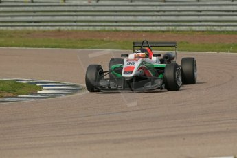 World © Octane Photographic Ltd. Cooper Tyres British Formula 3 (F3). Rockingham - Race, Sunday 4th May 2014. Dallara F312 Mercedes HWA – Sam MacLeod – Fortec Motorsports. Digital Ref : 0921lb1d2580