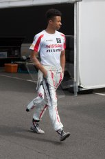 World © Octane Photographic Ltd. Thursday 3rd July 2014. GP3 paddock, Silverstone - UK. Jann Mardenborough - Arden International. Digital Ref : 1008JM1D0993