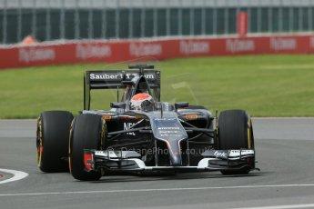 World © Octane Photographic Ltd. Friday 6th June 2014. Canada - Circuit Gilles Villeneuve, Montreal. Formula 1 Practice 2. Sauber C33 – Adrian Sutil. Digital Ref: 0979LB1D3802