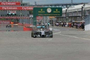 World © Octane Photographic Ltd. Friday 6th June 2014. Canada - Circuit Gilles Villeneuve, Montreal. Formula 1 Practice 2. Mercedes AMG Petronas F1 W05 Hybrid – Lewis Hamilton. Digital Ref: 0979LB1D3854