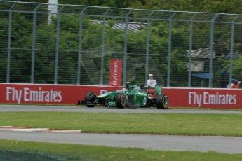 World © Octane Photographic Ltd. Friday 6th June 2014. Canada - Circuit Gilles Villeneuve, Montreal. Formula 1 Practice 2. Caterham F1 Team CT05 – Marcus Ericsson. Digital Ref: 0979LB1D3914