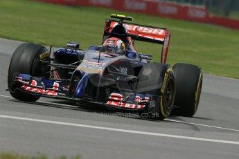 World © Octane Photographic Ltd. Friday 6th June 2014. Canada - Circuit Gilles Villeneuve, Montreal. Formula 1 Practice 2. Scuderia Toro Rosso STR 9 – Daniil Kvyat. Digital Ref: 0979LB1D4024