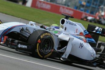 World © Octane Photographic Ltd. Friday 6th June 2014. Canada - Circuit Gilles Villeneuve, Montreal. Formula 1 Practice 2. Williams Martini Racing FW36 – Felipe Massa. Digital Ref: 0979LB1D4052
