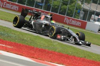 World © Octane Photographic Ltd. Friday 6th June 2014. Canada - Circuit Gilles Villeneuve, Montreal. Formula 1 Practice 2. Sauber C33 - Esteban Gutierrez. Digital Ref: 0979LB1D4199