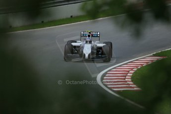 World © Octane Photographic Ltd. Friday 6th June 2014. Canada - Circuit Gilles Villeneuve, Montreal. Formula 1 Practice 2. Williams Martini Racing FW36 – Valtteri Bottas. Digital Ref: 0979LB1D4883