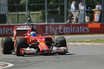 World © Octane Photographic Ltd. Friday 6th June 2014. Canada - Circuit Gilles Villeneuve, Montreal. Formula 1 Practice 2. Scuderia Ferrari F14T - Fernando Alonso. Digital Ref: 0979LB1D4992