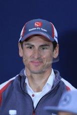 World © Octane Photographic Ltd. Formula 1 Canada – Circuit Gilles Villeneuve, Montreal. Thursday 5th June 2014. Drivers' press conference. Sauber – Adrian Sutil. Digital Ref : 0977LB1D1442