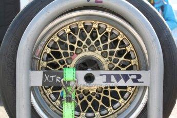 World © Octane Photographic Ltd. Donington Historic Festival, May 3rd 2014. Ford Capri RS3100 wheel. Digital Ref :