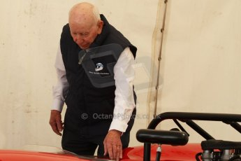 World © Octane Photographic Ltd. Donington Historic Festival, May 4th 2014. John Surtees OBE with his Lola Can Am car. Digital Ref : 0918cb7d8537