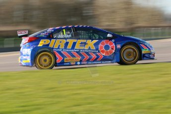 World © Octane Photographic Ltd. Donington Park general unsilenced test day, 13th February 2014. Pirtek Racing (Eurotech) Honda Civic NGTC - Andy Jordan. Digital Ref : 0891cb1d2595