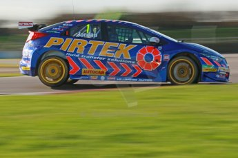 World © Octane Photographic Ltd. Donington Park general unsilenced test day, 13th February 2014. Pirtek Racing (Eurotech) Honda Civic NGTC - Andy Jordan. Digital Ref : 0891cb1d2626