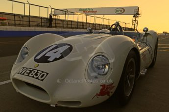 World © Octane Photographic Ltd. Donington Park general unsilenced test day, 13th February 2014. 1958 Lister Knobbly-Chevrolet BHL110 - Roberto Giordanelli. Digital Ref : 0891cb1d3841