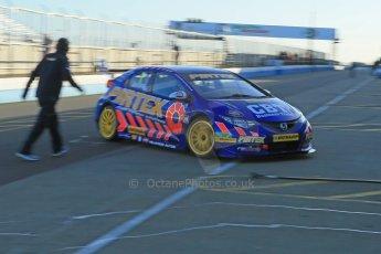 World © Octane Photographic Ltd. Donington Park general unsilenced test day, 13th February 2014. Pirtek Racing (Eurotech) Honda Civic NGTC - Andy Jordan. Digital Ref : 0891cb1d3850