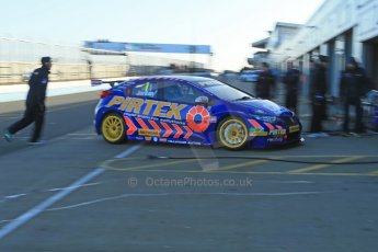 World © Octane Photographic Ltd. Donington Park general unsilenced test day, 13th February 2014. Pirtek Racing (Eurotech) Honda Civic NGTC - Andy Jordan. Digital Ref : 0891cb1d3854