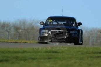 World © Octane Photographic Ltd. Donington Park general unsilenced test day, 13th February 2014. Rob Austin Racing Audi A4 NGTC. Digital Ref : 0891cb1d3926
