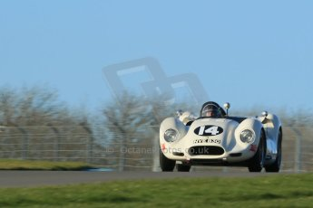 World © Octane Photographic Ltd. Donington Park general unsilenced test day, 13th February 2014. 1958 Lister Knobbly-Chevrolet BHL110 - Roberto Giordanelli. Digital Ref : 0891cb1d4038