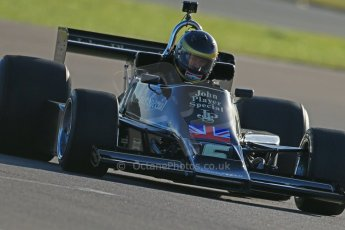 World © Octane Photographic Ltd. Donington Park general unsilenced test day, 13th February 2014. FIA Historic Formula 1 (F1) Championship. Ex-Gunnar Nilsson Lotus 76. Digital Ref : 0891cb1d4305