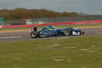 World © Octane Photographic Ltd. FIA European F3 Championship, Silverstone, UK, April 18th 2014 - Qualifying sessions. Double R Racing – Dallara F312 Mercedes – Felipe Guimaraes. Digital Ref : 0908lb1d0920