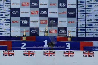 World © Octane Photographic Ltd. FIA European F3 Championship, Silverstone, UK, April 19th 2014 - Race 1 Podium. Digital  Digital Ref : 0909lb1d6973