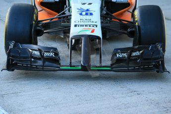 World © Octane Photographic Ltd. 2014 Formula 1 Winter Testing, Circuito de Velocidad, Jerez. Tuesday 27th January 2014. Sahara Force India VJM07 launched by Nico Hulkenburg and Sergio Perez. Tech details. Digital Ref: 0883lb1d0027