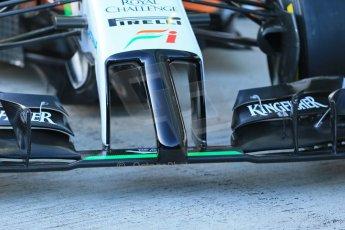 World © Octane Photographic Ltd. 2014 Formula 1 Winter Testing, Circuito de Velocidad, Jerez. Tuesday 27th January 2014. Sahara Force India VJM07 launched by Nico Hulkenburg and Sergio Perez. Tech details. Digital Ref: 0883lb1d9954