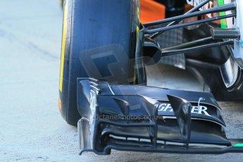 World © Octane Photographic Ltd. 2014 Formula 1 Winter Testing, Circuito de Velocidad, Jerez. Tuesday 27th January 2014. Sahara Force India VJM07 launched by Nico Hulkenburg and Sergio Perez. Tech details. Digital Ref: 0883lb1d9973