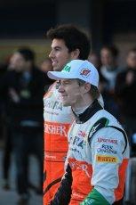 World © Octane Photographic Ltd. 2014 Formula 1 Winter Testing, Circuito de Velocidad, Jerez. Tuesday 27th January 2014. Sahara Force India VJM07 launched by Nico Hulkenburg and Sergio Perez. Digital Ref: 0883lb1d9990