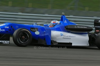 World © Octane Photographic Ltd. Cooper Tyres British Formula 3 Media Day, Castle Donington, Tuesday 8th April 2014. Double R Racing - Dallara F308 Mercedes HWA – Camren Kaminsky. Digital Ref : 0903lb1d3915