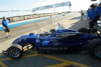World © Octane Photographic Ltd. Cooper Tyres British Formula 3 Media Day, Castle Donington, Tuesday 8th April 2014. Carlin - Dallara F310 Volkwagen - Sam Brabham. Digital Ref : 0903lb1d9700