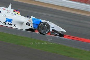 World © Octane Photographic Ltd. BRDC Formula 4 Qualifying, Silverstone, UK, Saturday 16th August 2014. MSV F4-013. Douglas Motorsport. Diego Menchaca. Digital Ref : 1075LB1D4797