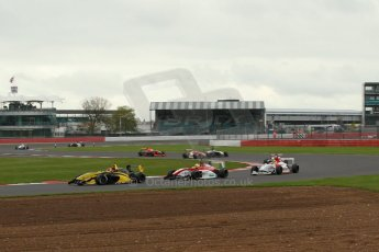 World © Octane Photographic Ltd. BRDC Formula 4 Championship. MSV F4-013. Silverstone, Sunday 27th April 2014. Sean Walkinshaw Racing (SWR) – Nicolas Beer. Digital Ref : 0914lb1d2048