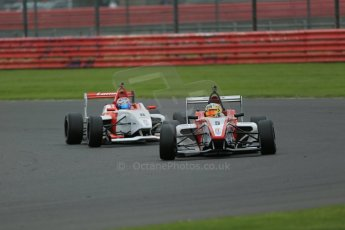 World © Octane Photographic Ltd. BRDC Formula 4 Championship. MSV F4-013. Silverstone, Sunday 27th April 2014. Hillspeed - Gustavo Lima and Lanan Racing – George Russell. Digital Ref : 0914lb1d9017