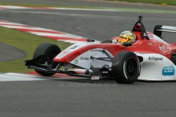 World © Octane Photographic Ltd. BRDC Formula 4 Championship. MSV F4-013. Silverstone, Sunday 27th April 2014. Hillspeed - Gustavo Lima. Digital Ref : 0916lb1d9910