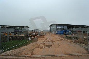 World © Octane Photographic Ltd. 3rd April 2014 - FIA Formula E Head Quarters under construction - Donington Park. Digital Ref : 0890lb1d3372