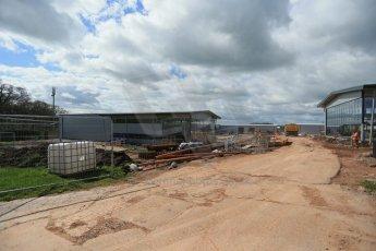 World © Octane Photographic Ltd. 8th April 2014 - FIA Formula E Head Quarters under construction - Donington Park. Digital Ref : 0890lb1d4176