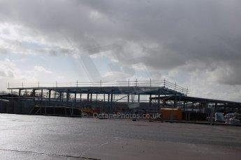 World © Octane Photographic Ltd. 27th February 2014 - FIA Formula E Head Quarters under construction - Donington Park. Digital Ref : 0890lw1d3026