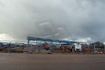 World © Octane Photographic Ltd. 27th February 2014 - FIA Formula E Head Quarters under construction - Donington Park. Digital Ref : 0890lw1d3031