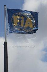 World © Octane Photographic Ltd. FIA Formula E testing – Donington Park 19th August 2014. FIA flag. Digital Ref : 1077LB1D5098