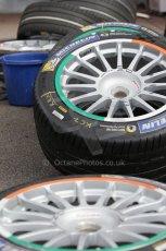 World © Octane Photographic Ltd. FIA Formula E testing – Donington Park 19th August 2014. Spark-Renault SRT_01E. Mahindra Racing wheel colours. Digital Ref : 1077LB1D5175