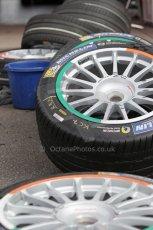 World © Octane Photographic Ltd. FIA Formula E testing – Donington Park 19th August 2014. Spark-Renault SRT_01E. Mahindra Racing wheel colours. Digital Ref : 1077LB1D5180