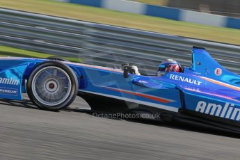 World © Octane Photographic Ltd. FIA Formula E testing – Donington Park 19th August 2014. Spark-Renault SRT_01E. Amlin Aguri - Katherine Legge. Digital Ref : 1077LB1D5271