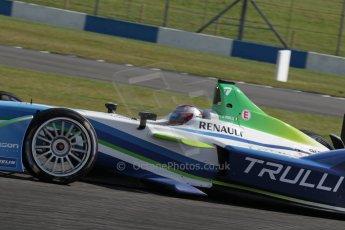 World © Octane Photographic Ltd. FIA Formula E testing – Donington Park 19th August 2014. Spark-Renault SRT_01E. TrulliGP - Jarno Trulli. Digital Ref : 1077LB1D5310