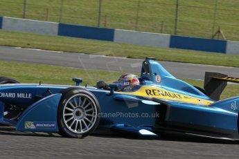 World © Octane Photographic Ltd. FIA Formula E testing – Donington Park 19th August 2014. Spark-Renault SRT_01E. e.dams-Renault - Sebastien Buemi. Digital Ref : 1077LB1D5314