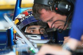 World © Octane Photographic Ltd. FIA Formula E testing – Donington Park 19th August 2014. Spark-Renault SRT_01E. e.dams-Renault - Sebastien Buemi. Digital Ref : 1077LB1D5363