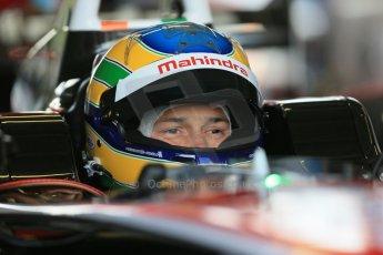 World © Octane Photographic Ltd. FIA Formula E testing – Donington Park 19th August 2014. Spark-Renault SRT_01E. Mahindra Racing - Bruno Senna. Digital Ref : 1077LB1D5382
