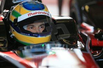 World © Octane Photographic Ltd. FIA Formula E testing – Donington Park 19th August 2014. Spark-Renault SRT_01E. Mahindra Racing - Bruno Senna. Digital Ref : 1077LB1D5456