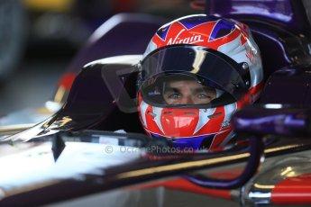 World © Octane Photographic Ltd. FIA Formula E testing – Donington Park 19th August 2014. Spark-Renault SRT_01E. Virgin Racing - Jamie Alguersuari. Digital Ref : 1077LB1D5497