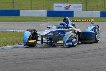 World © Octane Photographic Ltd. FIA Formula E testing – Donington Park 19th August 2014. Spark-Renault SRT_01E. e.dams-Renault – Nicolas Prost. Digital Ref :