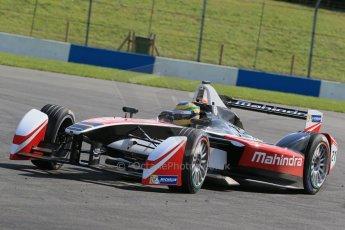 World © Octane Photographic Ltd. FIA Formula E testing – Donington Park 19th August 2014. Spark-Renault SRT_01E. Mahindra Racing - Bruno Senna. Digital Ref : 1077LB1D6016
