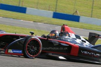 World © Octane Photographic Ltd. FIA Formula E testing – Donington Park 19th August 2014. Spark-Renault SRT_01E. Venturi - Nick Heidfeld. Digital Ref : 1077LB1D6064